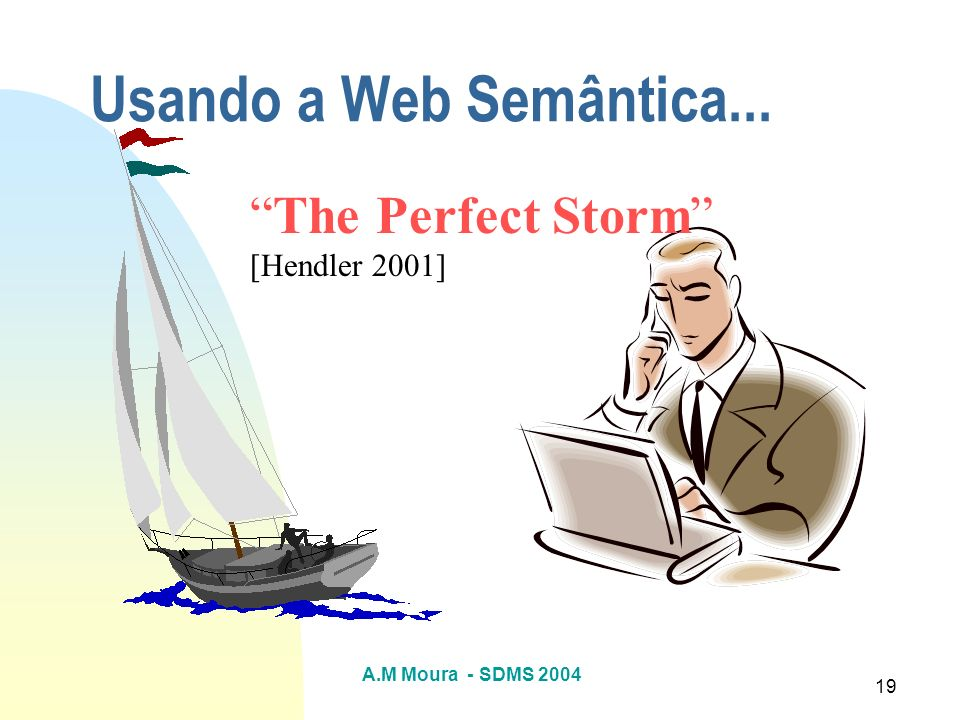 Usando a Web Semântica... The Perfect Storm [Hendler 2001]